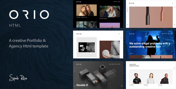 Orio - A Creative Portfolio & Agency HTML Template            TFx Ivan Shayne