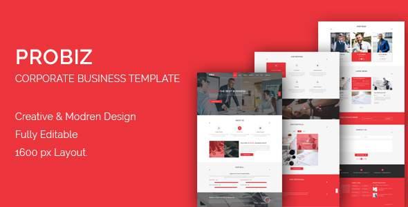 PROBIZ- Multipurpose Corporate Business Template            TFx Porter Hoyt