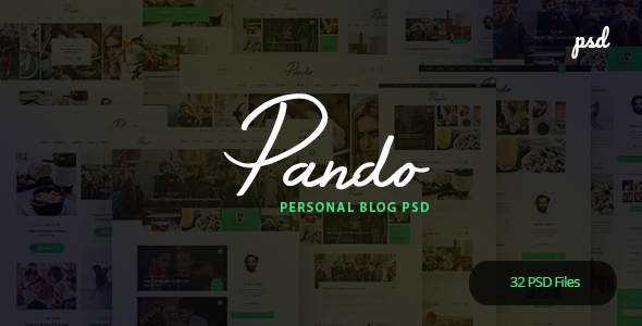 Pando - Personal Blog PSD Template            TFx Russel Ryuu
