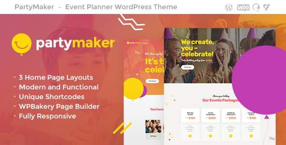 PartyMaker | Event Planner WordPress Theme            TFx Alden Dylan