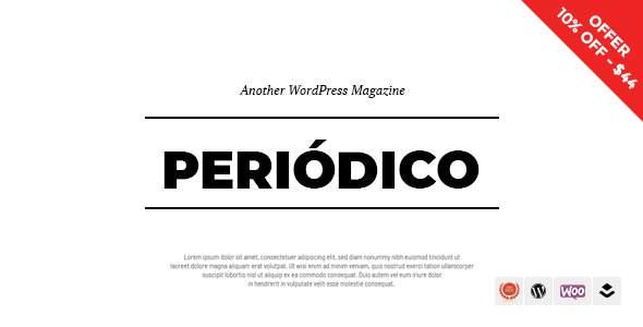 Periodico - A Responsive WordPress Blog Theme            TFx Jamey Ogden