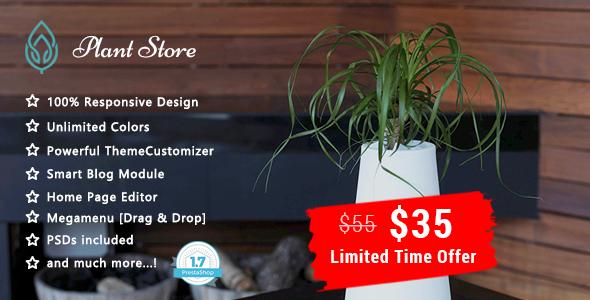 Plant – Garden Care Responsive Prestashop 1.7 Theme            TFx Carleton Barnaby