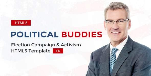 Political Buddies - Election Campaign & Activism HTML5 Template            TFx Juro Karekin