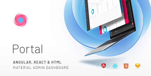 Portal – Angular, React & HTML Material Admin Template            TFx Tobin Stuart