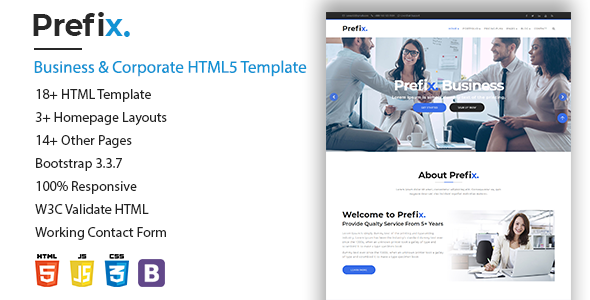 Prefix.- Business & Corporate HTML5 Template            TFx Brodie Ivor