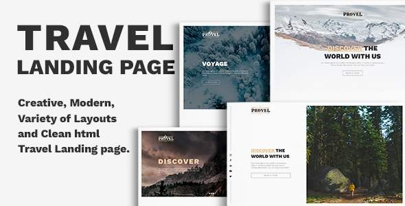 Provel - Travel Responsive Landing page            TFx Washington Meztli