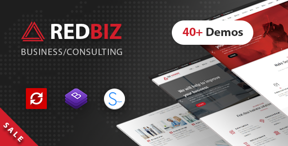 RedBiz - Business & Consulting Multi-Purpose Template            TFx Wibowo Conor