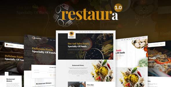 Restaura - Restaurant, Food & Cafe HTML Template            TFx Terry Gus
