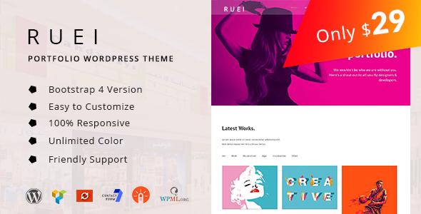 Ruei - Portfolio WordPress Theme            TFx Bleda Carol