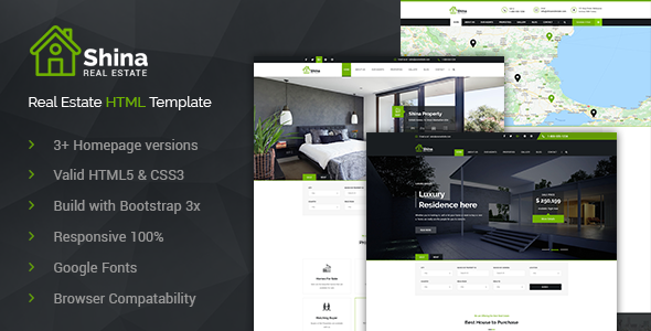 Shina Real State Property Sale and Rent HTML Template            TFx Dwayne Zechariah