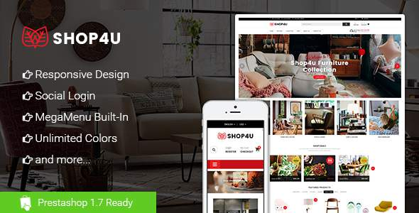 Shop4U - Store PrestaShop 1.7 eCommerce Theme            TFx Wiley Gabe