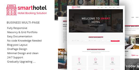 SmartHotel - Hotel Booking HTML5 Template            TFx Grier Ansel