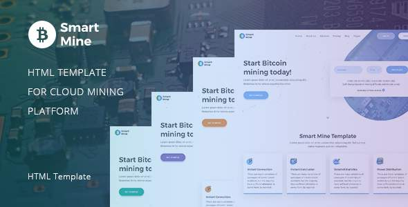 SmartMine – Crypto Mining HTML Template            TFx Jamie Hamilcar