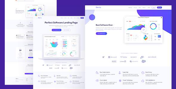 Software & SaaS App Landing Page Template — Startly            TFx Kieran Harve