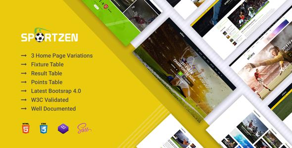 Sportzen - Sports club & magazine HTML template            TFx Sunny Samson