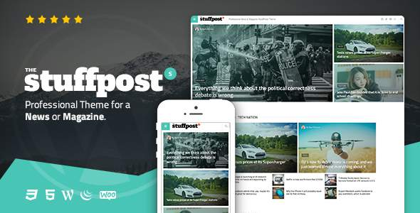StuffPost - Professional News & Magazine WordPress Theme            TFx Flannery Reynold