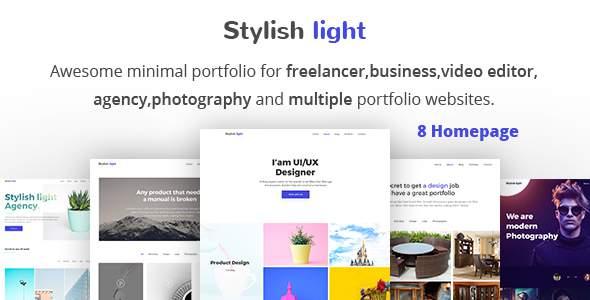 Stylish-Light - Minimal  Portfolio HTML 5 Template.            TFx Muscowequan Haruto