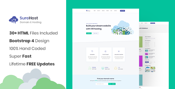 SureHost - Responsive Hosting Site Template            TFx Kasey Meriwether