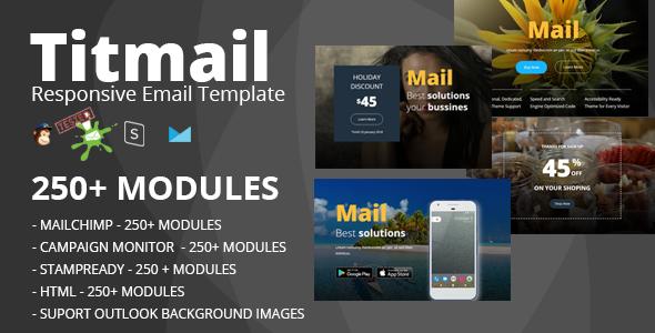 TITMAIL - Responsive Email Template (250+ Modules) + Stampready Builder            TFx Gib Derek