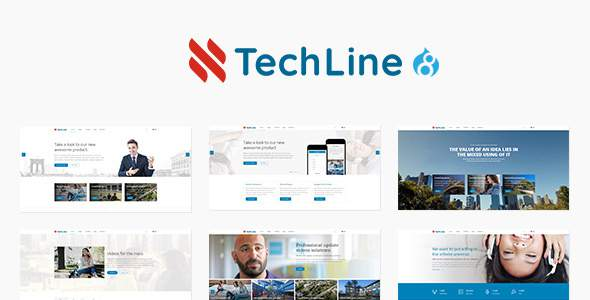 TechLine - Web services, businesses and startups Drupal 8.4 Theme            TFx Drew Kiyoshi