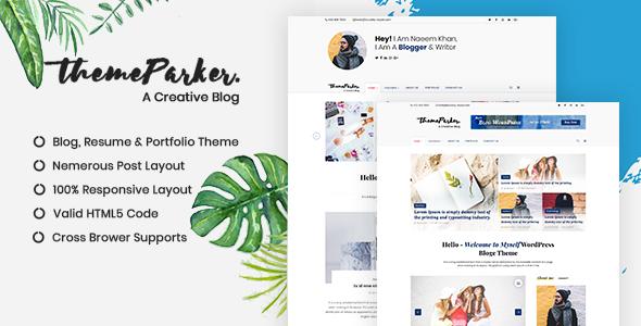 Themeparker | Blog & Portfolio Responsive HTML Template            TFx Celestine Melvyn