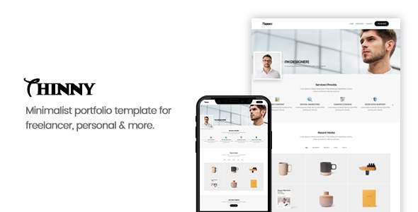 Thinny - Personal One Page Portfolio Template            TFx Red Silvester