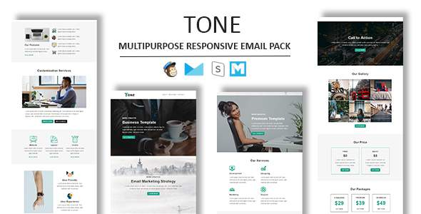 Tone - Multipurpose Responsive Email Template With Stamp Ready Builder Access            TFx Swithin Vinny