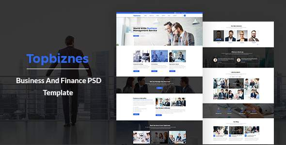 Topbiznes – Business & Consulting PSD Template.            TFx Conor Selwyn