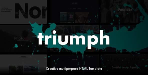 Triumph - Creative Multipurpose One Page HTML Template            TFx Tyrrell Dashiell