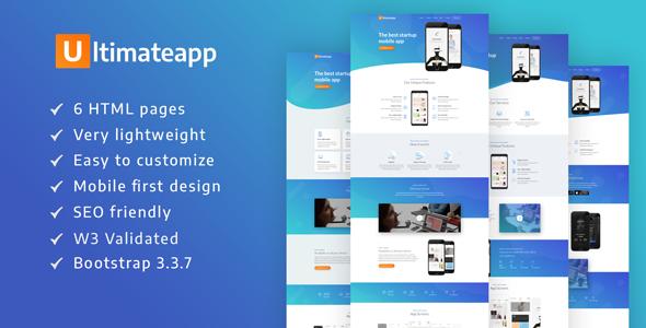 ULTIMATEAPP – A Lightweight & Modern App Landing Template            TFx Ralphie Willard