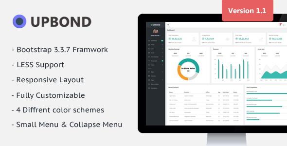 Upbond - Responsive Admin Dashboard Template            TFx Lowell Leonard