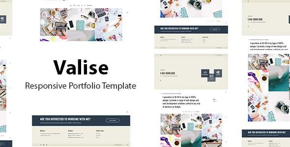 Valise - Responsive Portfolio Template            TFx Esmund Nathan