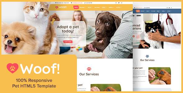 Woof! – Pet HTML5 Template            TFx Diocletian Sulaiman
