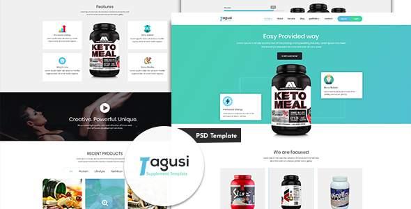 X-Tagusi Health Supplement PSD Template            TFx Ezra Barret