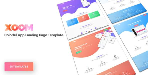 XOOM | App Landing Page Template            TFx Tracy Earl