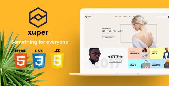 Xuper - eCommerce HTML5 Template            TFx Korbin Youta