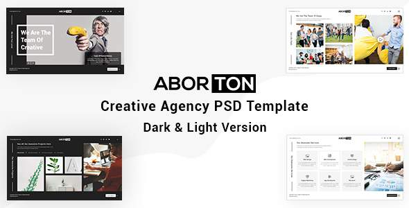 Aborton - Creative Agency PSD Template            TFx Rolland Quintin