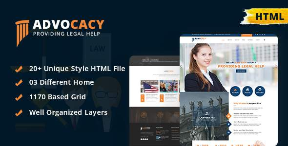 Advocacy - Legal Lawyer Law Firm Attorney Business HTML Template            TFx Mo Windsor