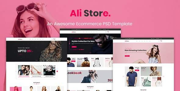 AliStore - Responsive eCommerce PSD Template            TFx Jasper Nori