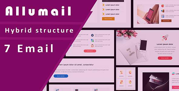 Allumail Responsive Email Template + Stampready Builder with Email On Acid test result            TFx Timour Eko
