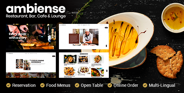 Ambiense - Restaurant & Cafe WordPress Theme            TFx Roland Farley