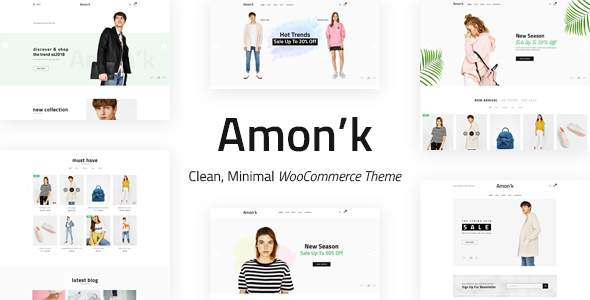 Amon'k – Clean, Minimal Store PSD Template            TFx Clyde Sora