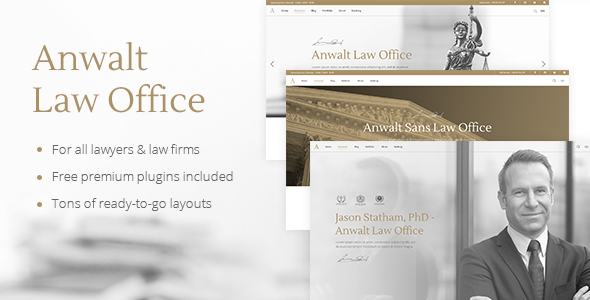 Anwalt - A Lawyer and Law Office Theme            TFx Curtis Aric