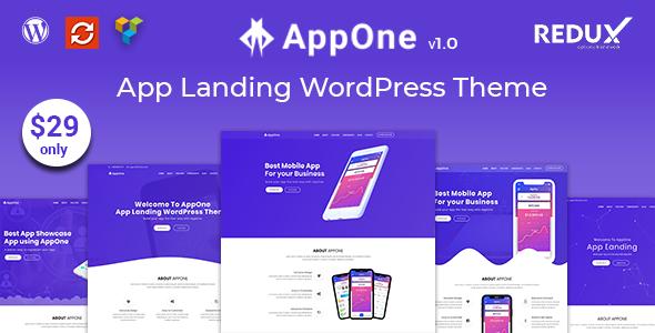 AppOne – App Landing WordPress Theme            TFx Ira Surya