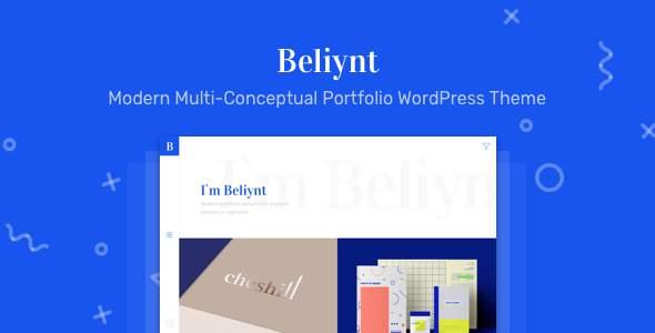 Beliynt Lite - Modern Multi-Conceptual Portfolio WordPress Theme            TFx Jeffrey Kody