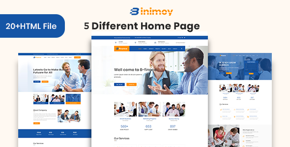 Binimoy – Finance & Business HTML5  Template            TFx Lon Earl