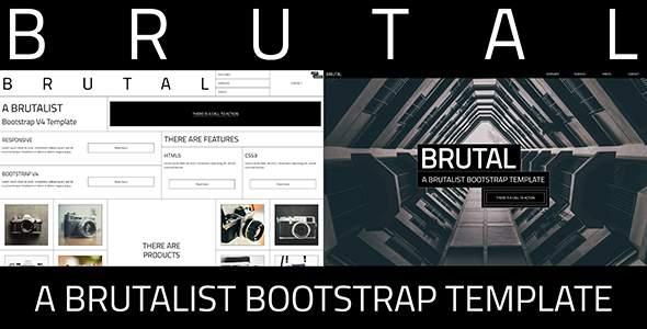 Brutal - A Brutalist Bootstrap v4 One Page HTML Template            TFx Billie Nuka