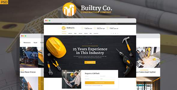 Builtry - Construction & Building Company PSD Template            TFx Frederick Antiman