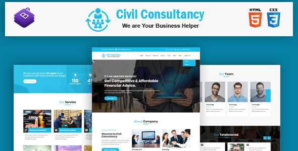Civil Consultancy  - Business Consulting and Professional Services HTML Template            TFx Tibby Kenji