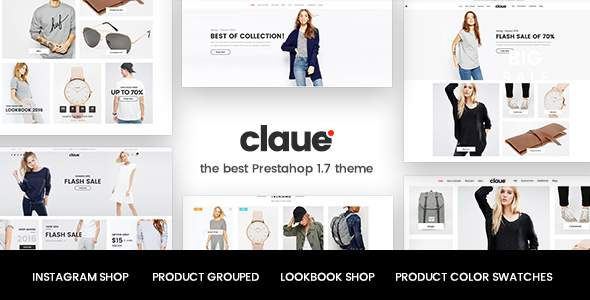 Claue – Clean, responsive Prestashop 1.7 theme            TFx Jared Elsdon
